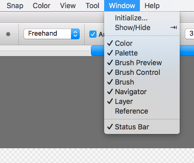 Menu>Window>Select Window to be shown