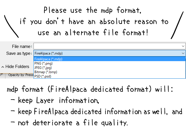 Diagram: Save in a MDP format!