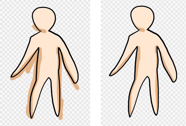 Diagram: Apply a base color with Clipping