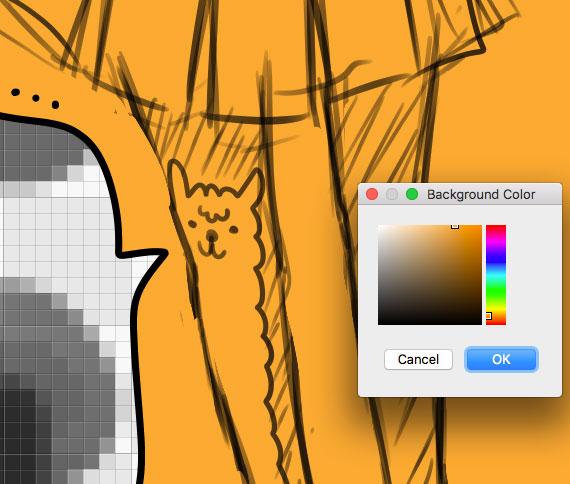 diagram:choose orange as the background color