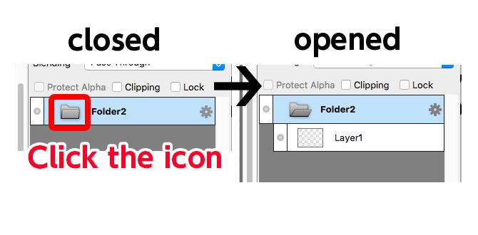 Diagra:Open&Close Layer Folder