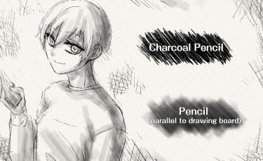 Brush : Charcoal Pencil, Pencil (parallel to drawing board)