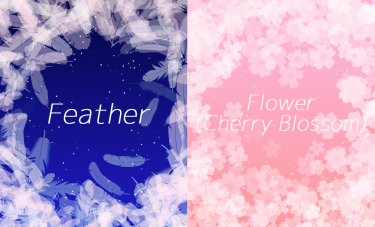 Brush : Feather, Flower(Cherry Blossom)