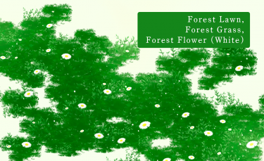 Brush : Forest Lawn, Forest Grass, Forest Flower (White)