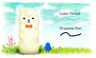 Brush : Color Pencil, Drawing Pen