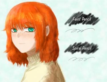 Brush : Faint Pencil, Spiral Pencil