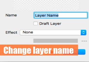 Change layer name