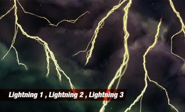 Brush : Lightning 1, Lightning 2, Lightning 3
