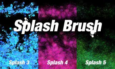 Brush : Splash 3, Splash 4, Splash 5
