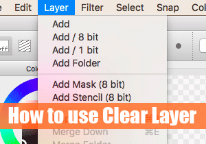 How to use Clear Layer