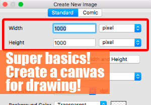 Super basics! Create a canvas for drawing!