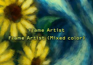 Brush :Flame Artist,Flame Artist (Mixed color)