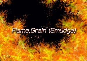 Brush :Flame,Grain (Smudge)