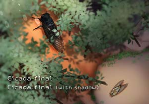 Brush :Cicada final,Cicada final (with shadow)