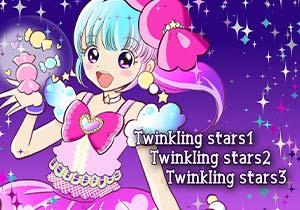 Brush :Twinkling stars1,Twinkling stars2,Twinkling stars3